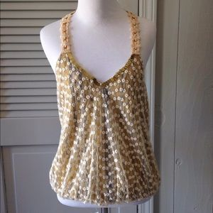 Free People racer back sequined tank SMALL